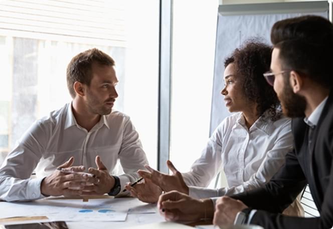 team member discussion