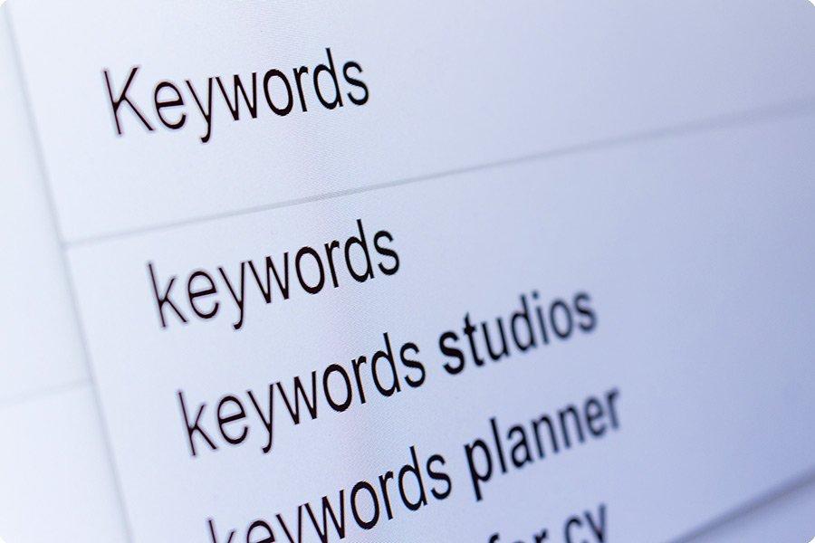 initial setup of keywords